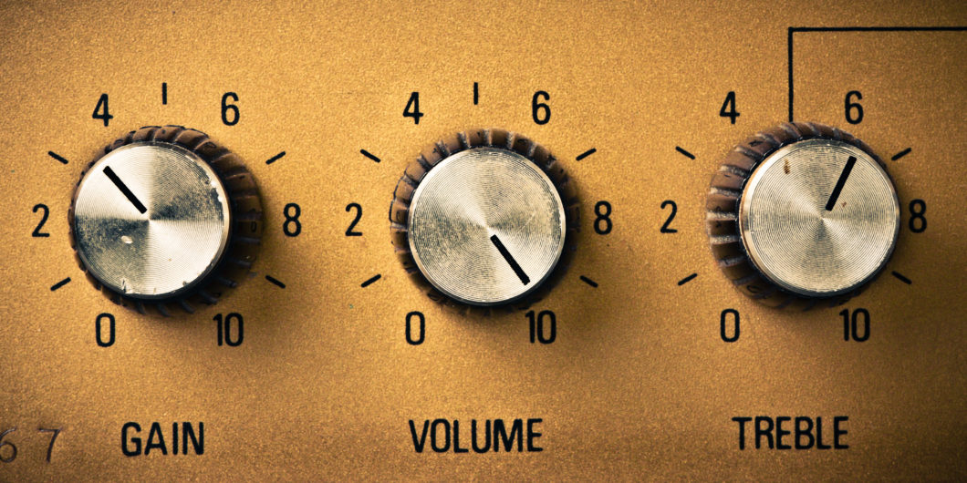 volume knob to the maximum
